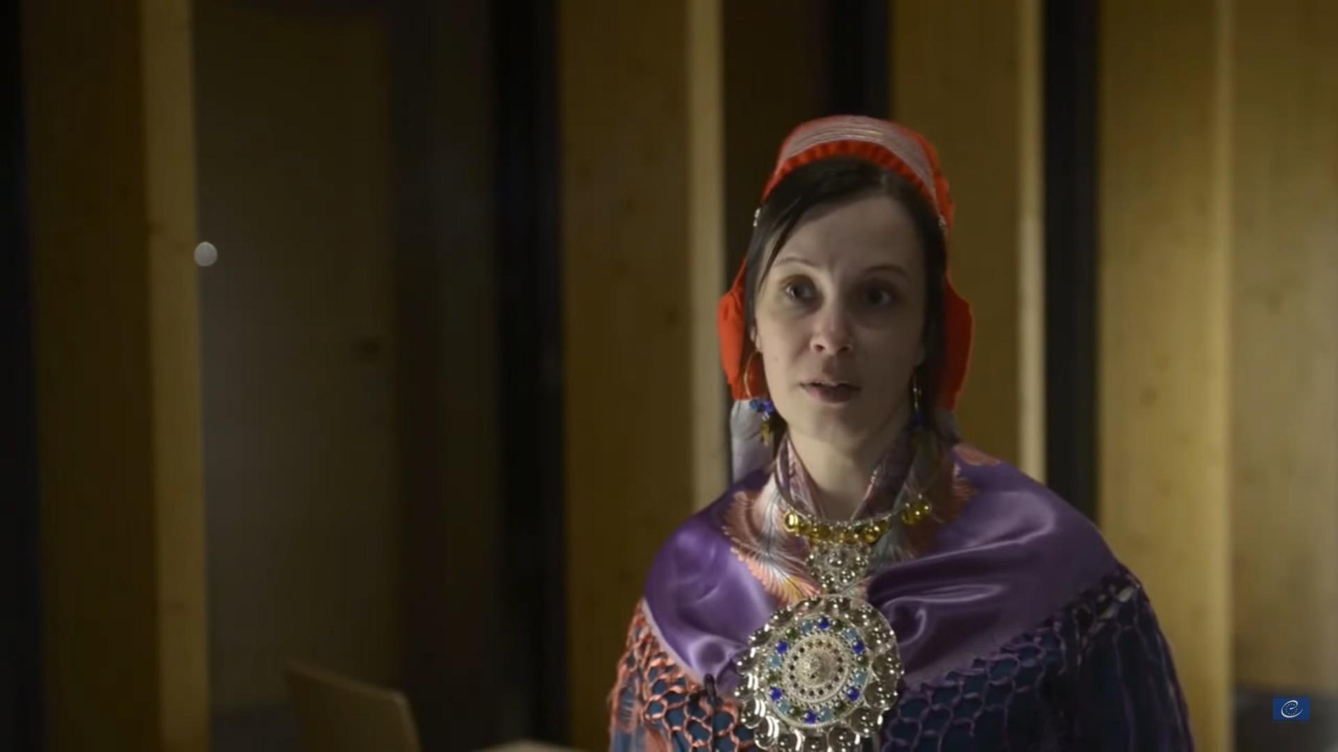 "Pirita Näkkäläjärvi 2014 @ Video ""Sámi - The People, Their Culture and Languages and the Council of Europe"". Photo Credit: Council of Europe"