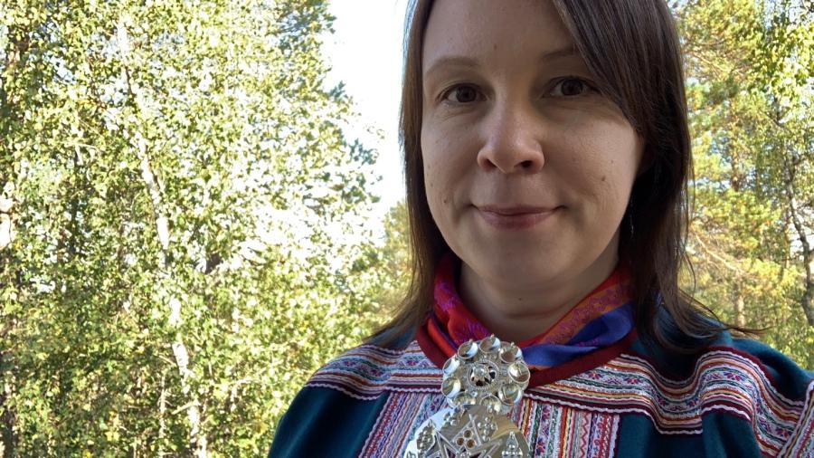 Pirita Näkkäläjärvi gáktebeaivve/saamenpukupäivänä 10.9.2020