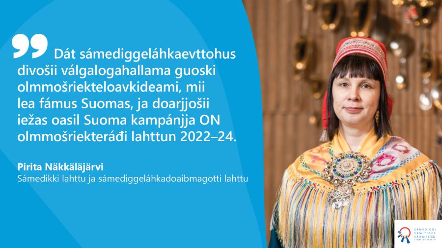 Pirita Näkkäläjärvi (Govva: Ville Fofonoff / Sámediggi)