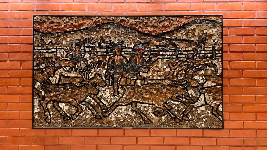 Taidetta Inarin kunnantalolla. Photo: Pirita Näkkäläjärvi